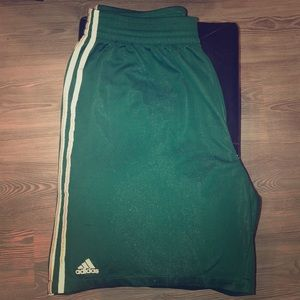 Adidas Climalite Athletic Shorts • Forest Green •